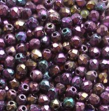 2.5mm Fire Polished, Purple Iris - 100